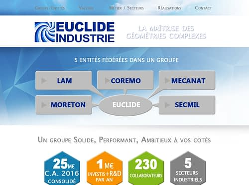 Site internet « Groupe EUCLIDE Industrie »