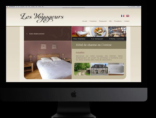 Site internet Les Voyageurs