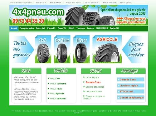 Lancement de 4x4pneu.fr e-commerce spécialisé